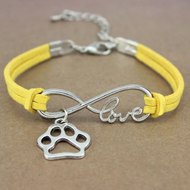 Doggy Paw Heart Love Charm Bracelet for Women