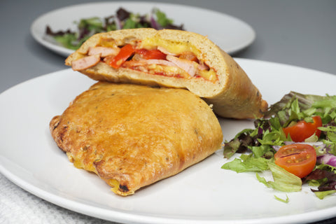 Keto calzone baked and cooked