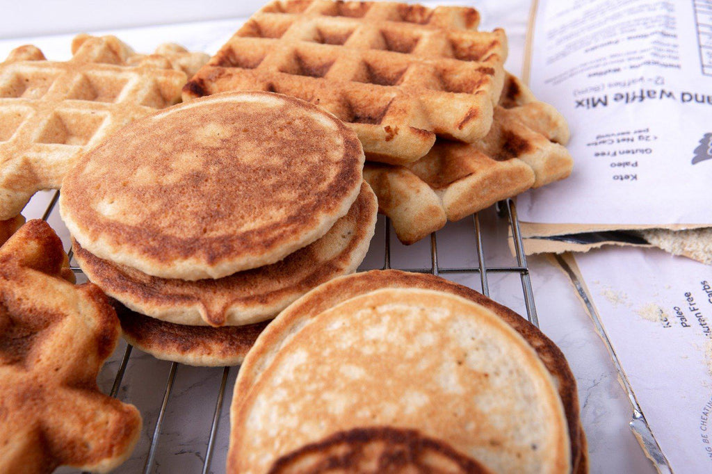 NGB Pancake and Waffle Mix-Mix-No Guilt Bakes-Whether its eggs benedict, keto hot chocolate or waffles, breakfast will always have a special place in the No Guilt Bakers heart. Its an all day affair and often times its the automatic go-to when we have had the longest of days and we just want to eat something quick, easy and delicious. One might wonder why its taken us this long to reveal this deliciousness. It's because it wasn't perfect and perfect is exactly what we wanted to give you. So now