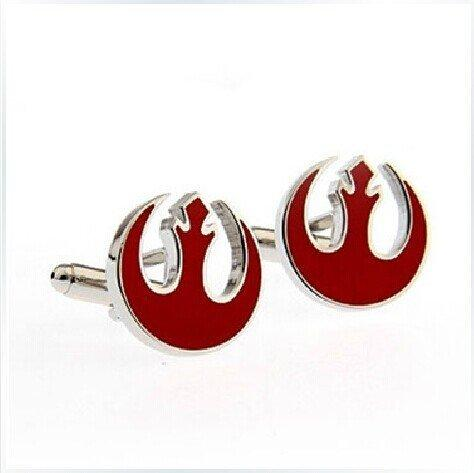 Joyplancraft Star Wars Cufflinks Alliance Starbird Cufflinks French Cufflinks for Men