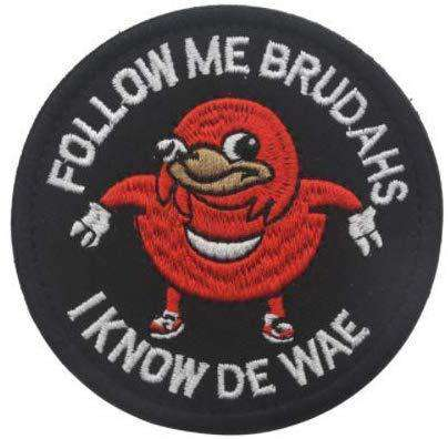 Follow me Brudahs i know de Wae Hook & Loop Military Badge Morale Patch for @ Sons of Odin™ - Men's