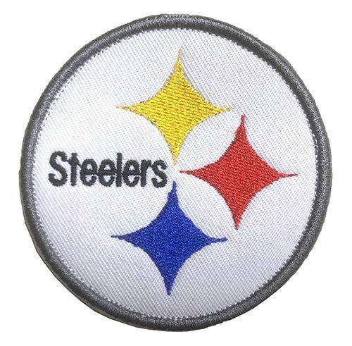 Tactical Patch of NFL Football Pittsburgh Steelers Sign Logo Applique Fastener Hook & Loop Military Badge Morale Patch for Backpacks Caps Hats Vests Bags