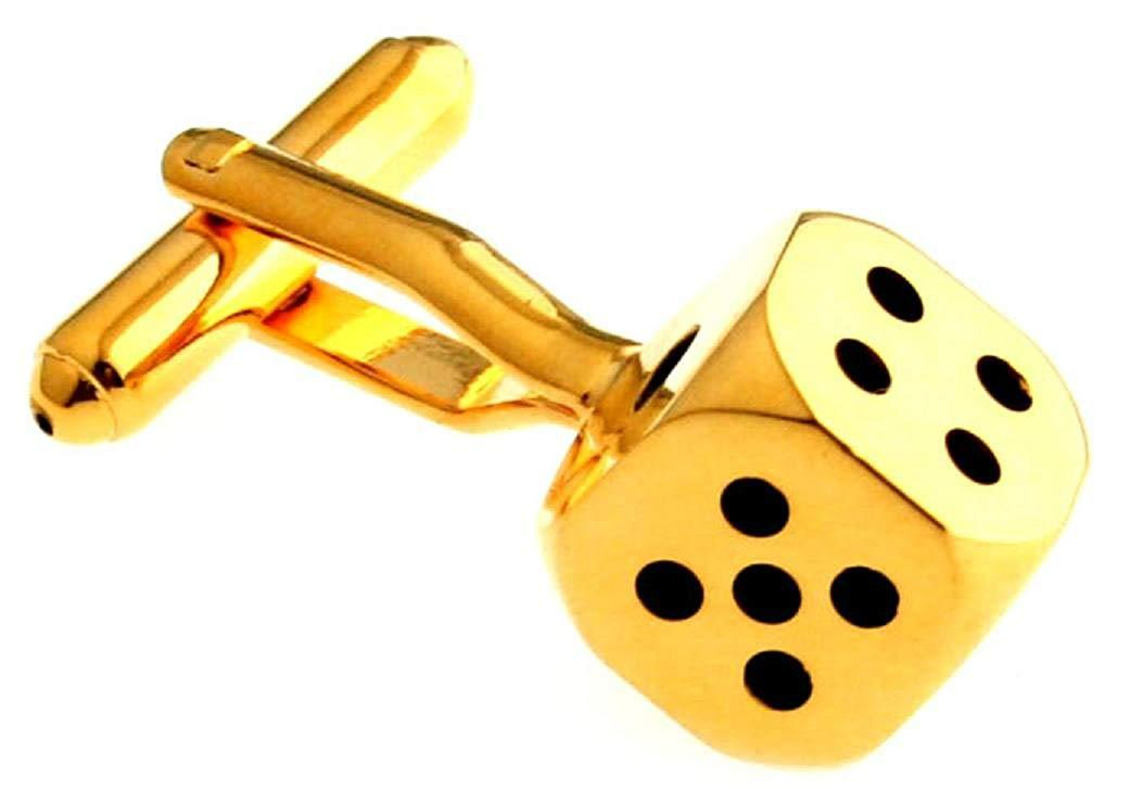 MRCUFF Dice Die Gambling Pair Cufflinks in a Presentation Gift Box & Polishing Cloth
