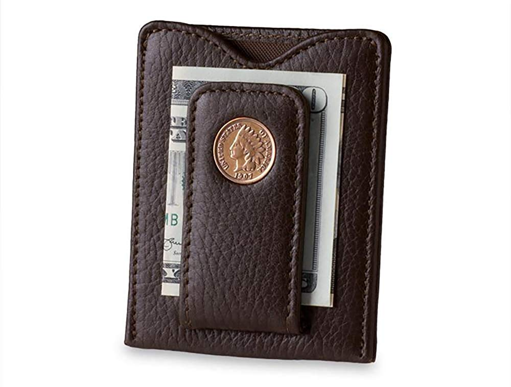 Tokens & Icons Indian Head Penny Money Clip Wallet