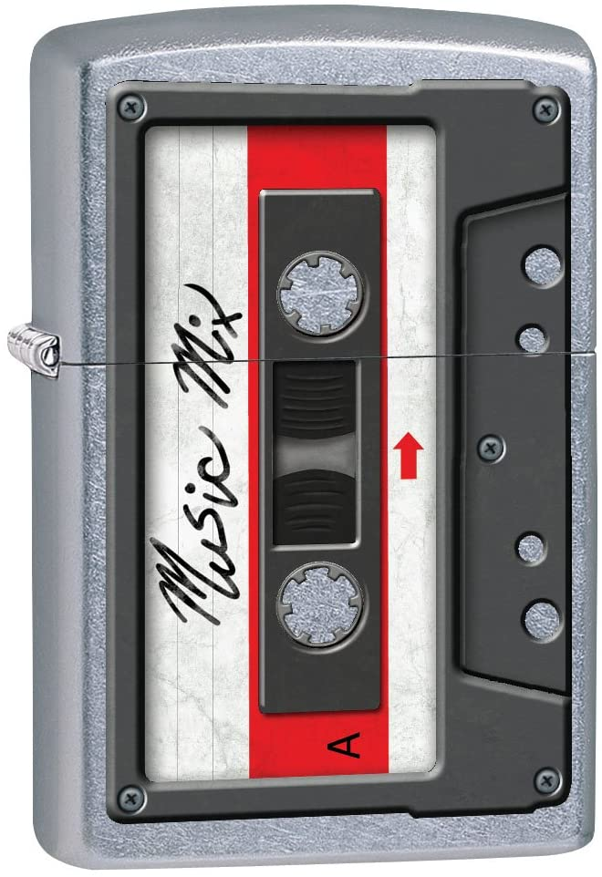Zippo Lighter: Cassette Tape - Street Chrome 79479