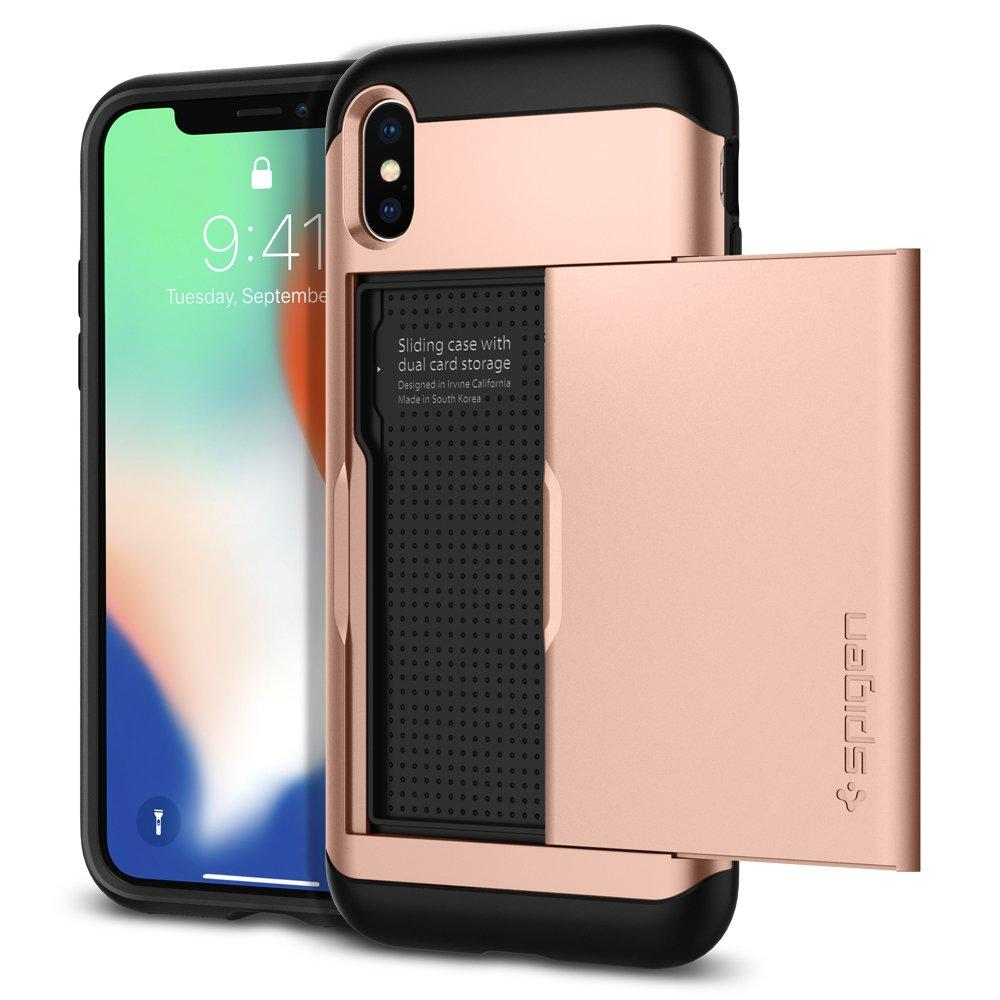Spigen Slim Armor CS Designed for iPhone Xs Case (2018) / Designed for iPhone X Case (2017) - Black