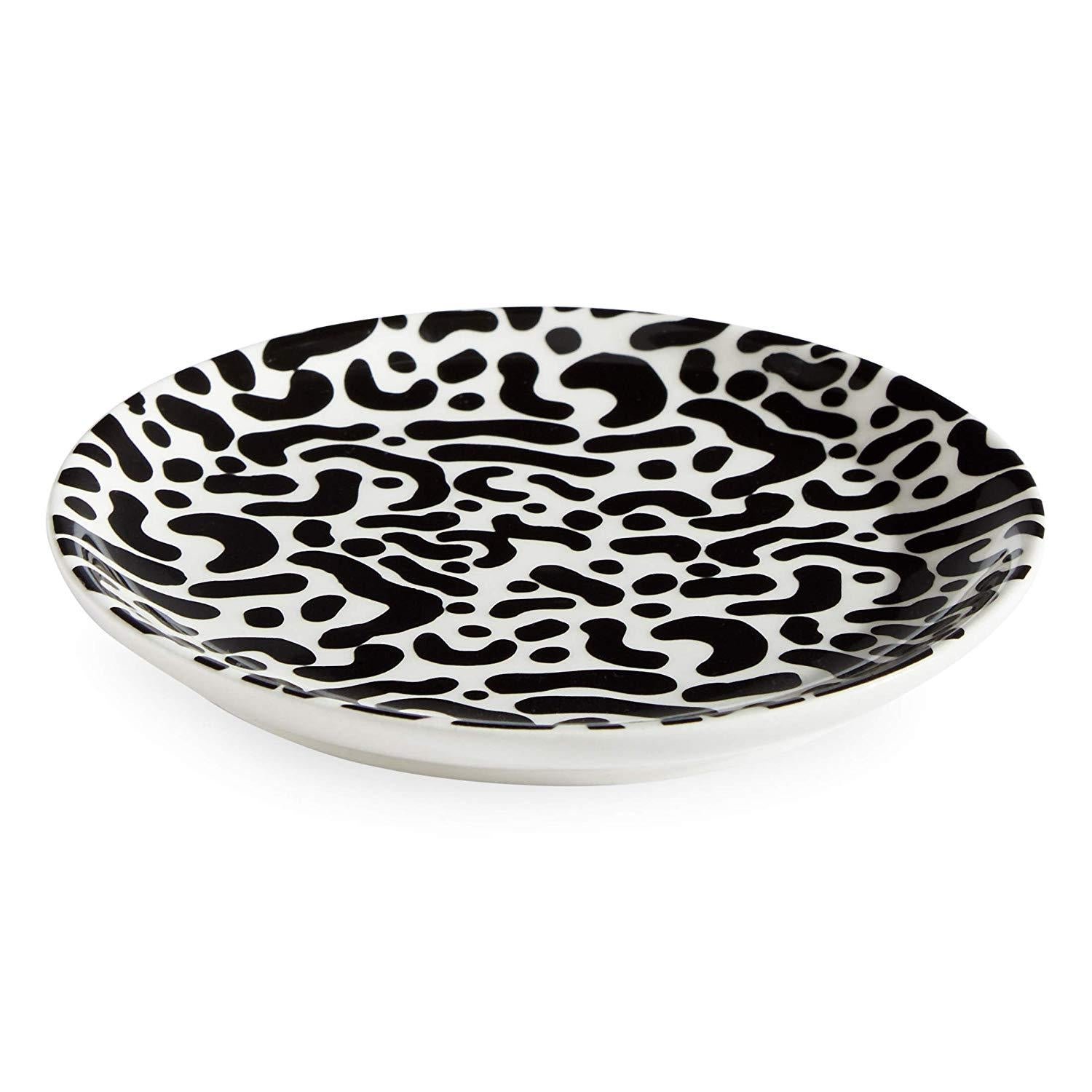 Now House by Jonathan Adler Leopard Trinket Decorative Tray, Black/White