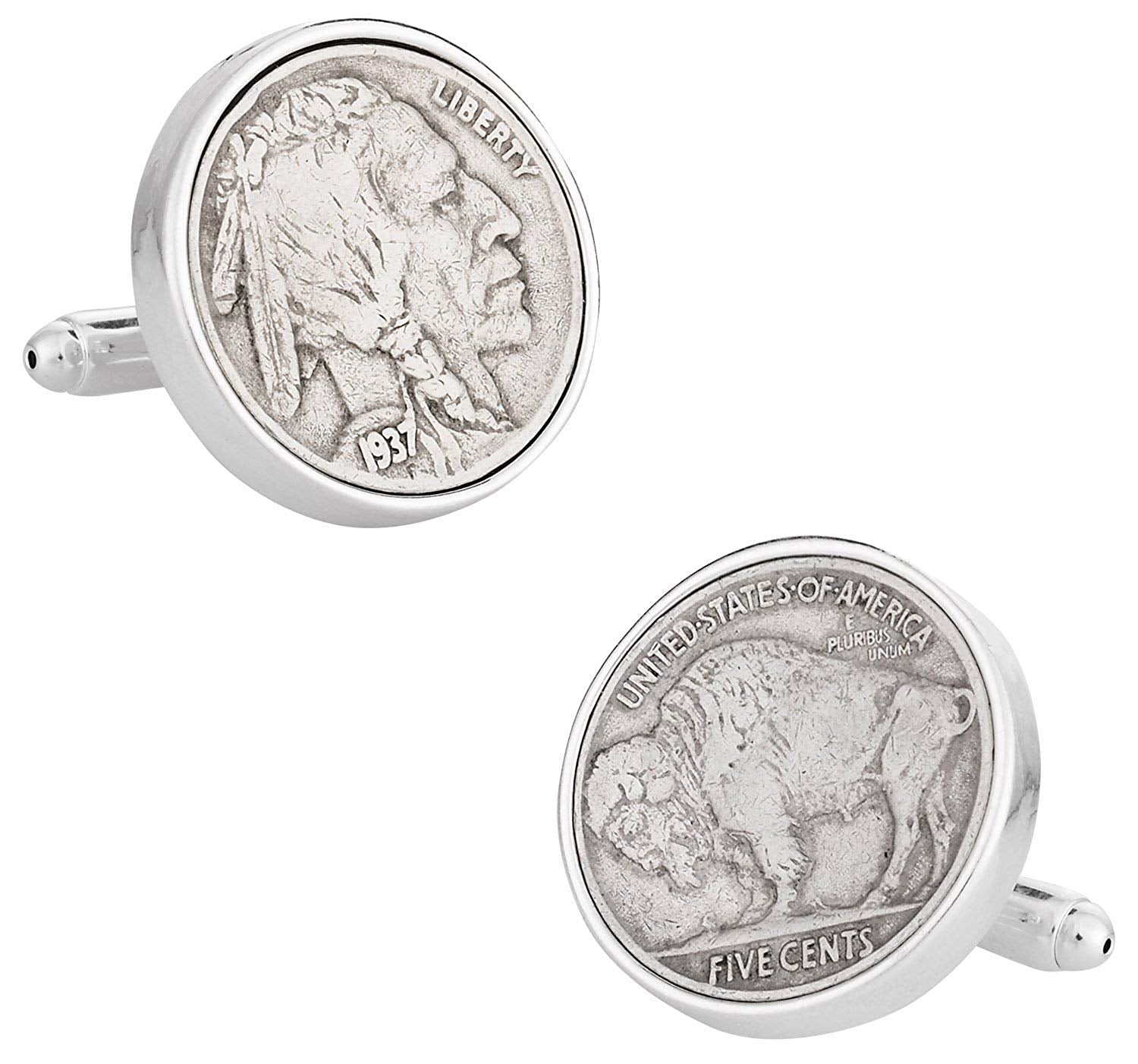 Cuff-Daddy Buffalo Nickel Coin Cufflinks with Presentation Box