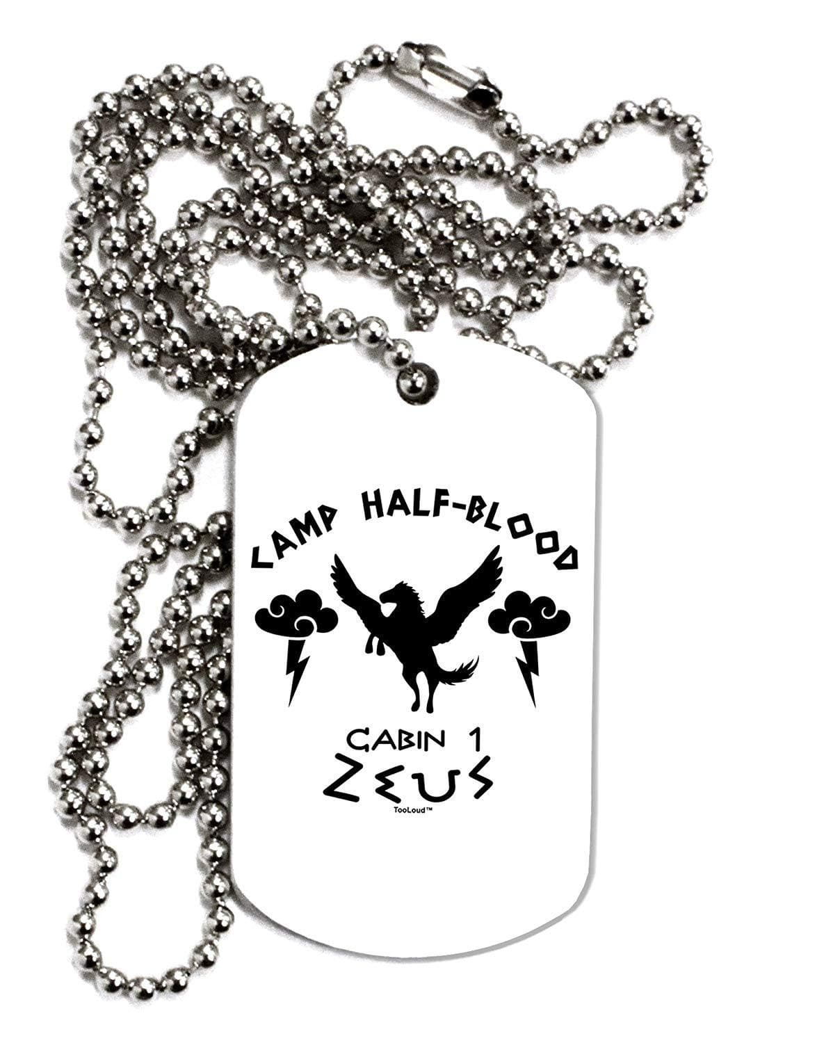 TooLoud Camp Half Blood Cabin 1 Zeus Adult Dog Tag Chain Necklace
