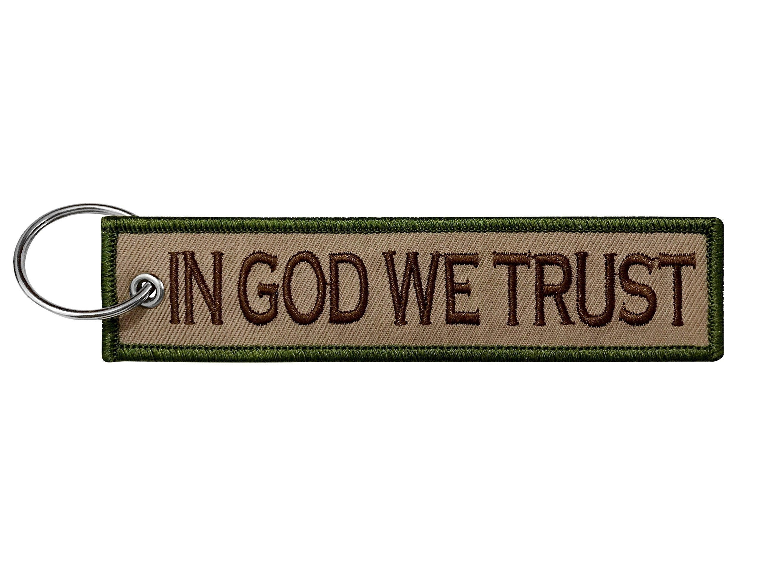 'In God We Trust' Key Tag Car / Motorcycle Keychain - SonsofOdin Co Goth Viking Biker Jewellry
