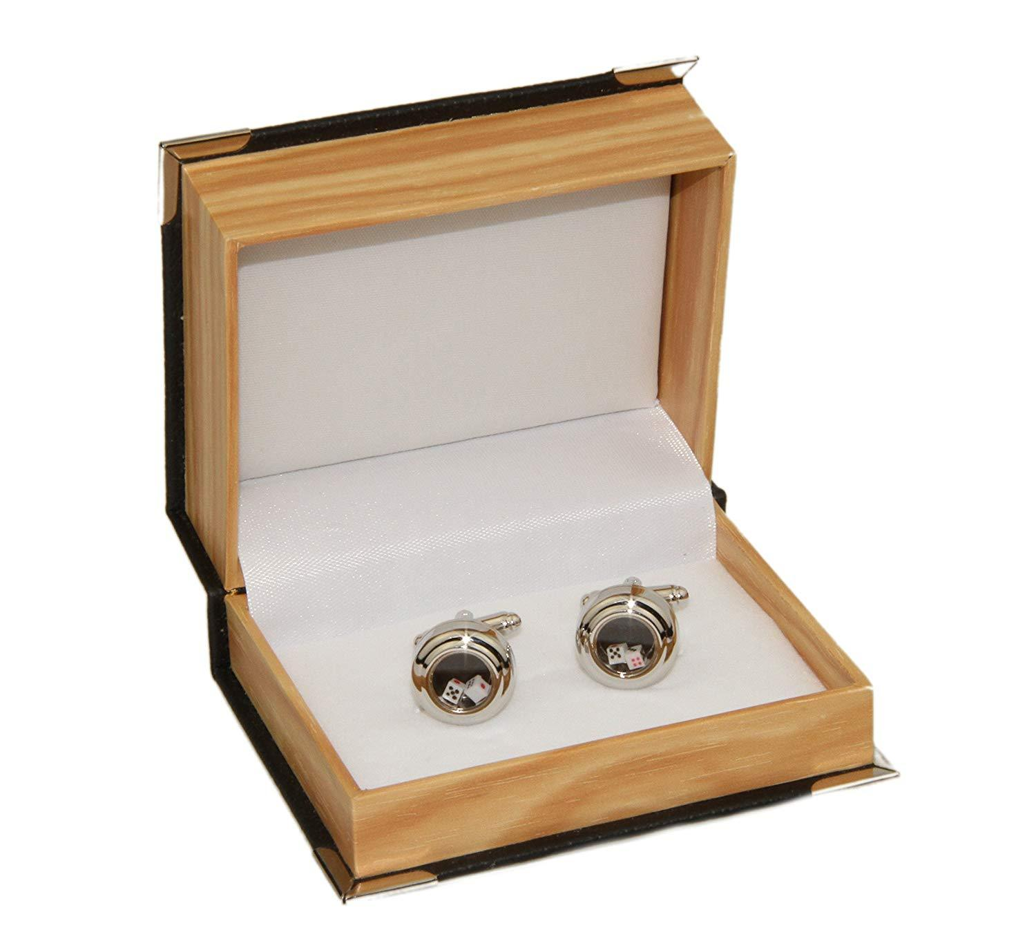 Men's Dice Cufflinks and Gift Box (Dice Moves)