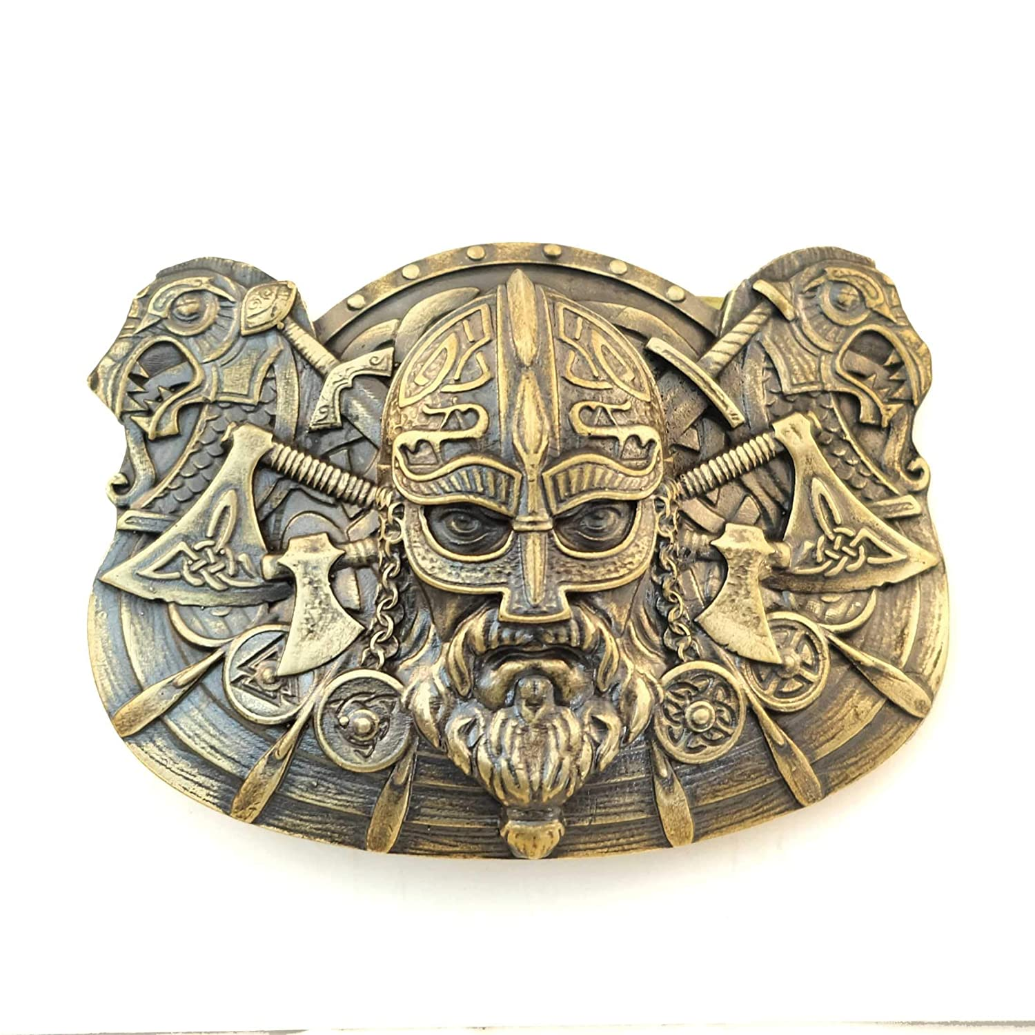 Belt buckle Viking, Handmade Scandinavian warrior military solid brass belt buckle buckle