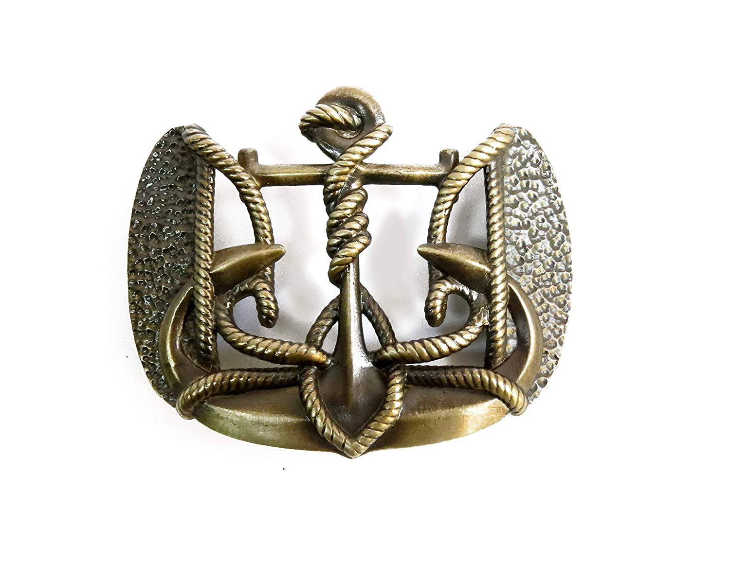 Belt buckle Anchor Trident, Handmade navy marine anchor solid brass belt buckle