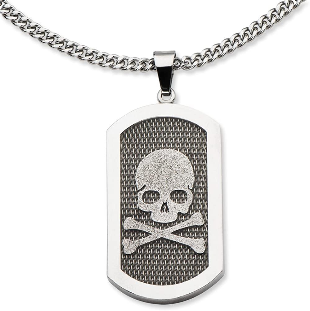 Animewild Inox Skull with Mesh Stainless Steel Pendant @ Sons of Odin™ - Men's Jewelry on Sale,