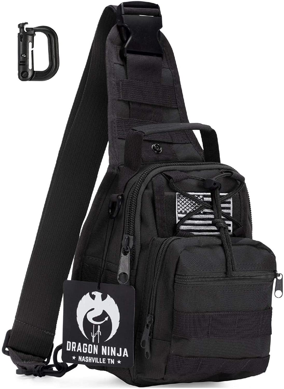 Dragon Ninja Tactical Sling Bag @ Sons of Odin™ -Men's Jewelry on Sale, 3400471, Earrings for Men,