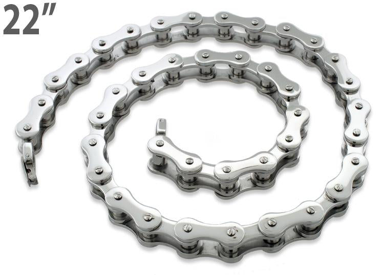 Stainless Steel Motorcycle Chain Necklace 22 inches - 10.4mm