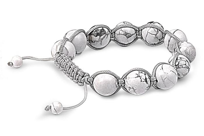 12mm White Turquoise Bead Shamballa Bracelet @ Sons of Odin™ - Men's Jewelry on Sale, Earrings for