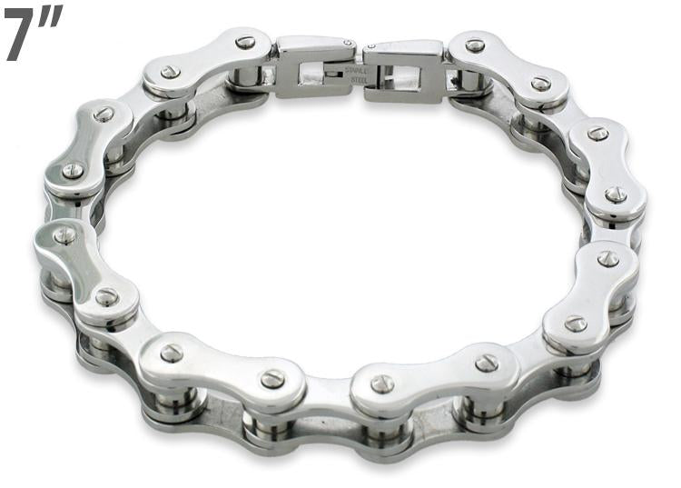 Stainless Steel Motorcycle Chain Bracelet 7 inches - 10.4mm