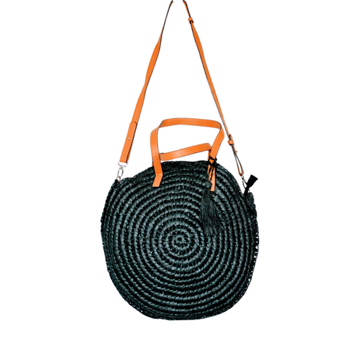 Round Woven Beach Bag - Large