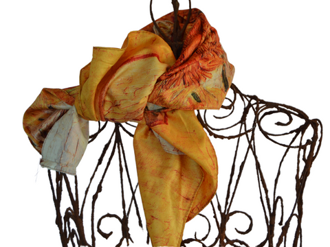 Van Gogh Design - 20% Silk Medium Scarf