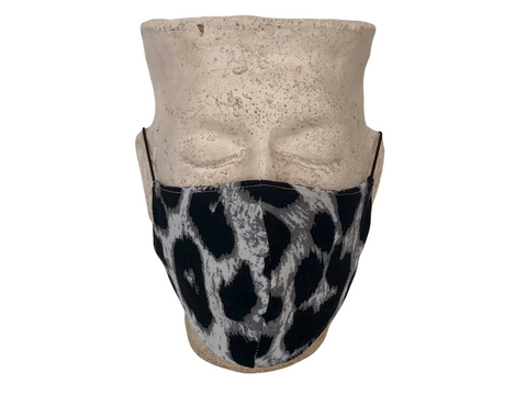 Animal Print & Leaf Print Reversible Bellibutton Mask - Adult