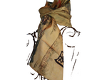 Chinese Map design with writing - 20% Silk Short Scarf