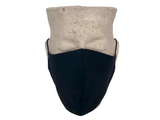 Black & Olive Green Linen Reversible Bellibutton Mask - Kids