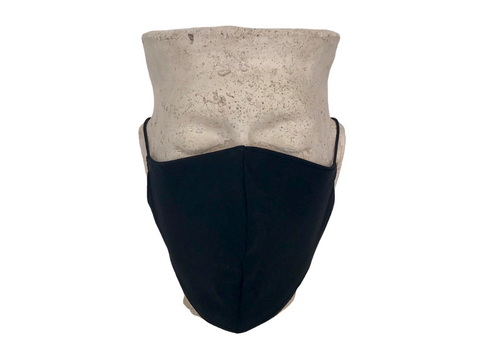 Black Cotton Reversible Bellibutton Mask - Adults