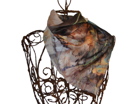 Watercolour painting - 20% Silk Short Scarf