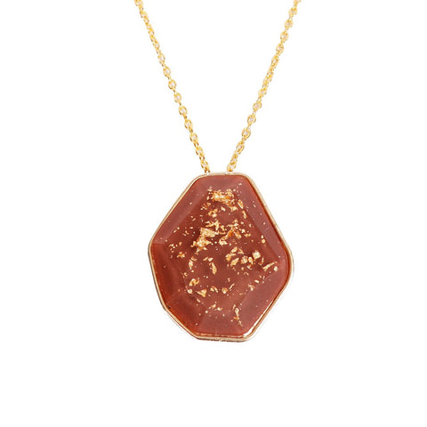Brown Resin Necklace