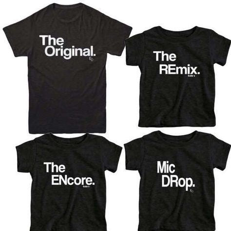 "Family T-Shirt Sets - ""The Remix"" Kids Sizes"