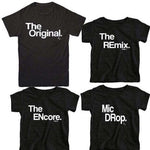 "Family T-Shirt Sets - ""The Mic Drop"" Kids Sizes"