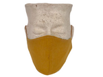 Leaf Print & Mustard Linen Reversible Bellibutton Mask - Kids