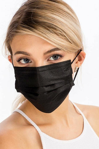 All Black Disposable Face Masks