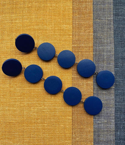Navy blue / Indigo Circles