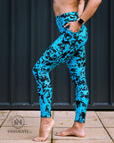 INdelicate Premium Leggings: Sky Daze Leggings