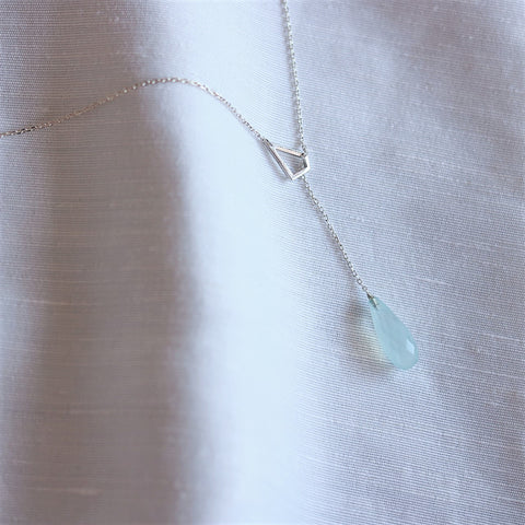 Aqua Drop Chain & Pendant