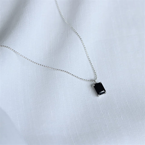 Black Onyx Chain & Pendant