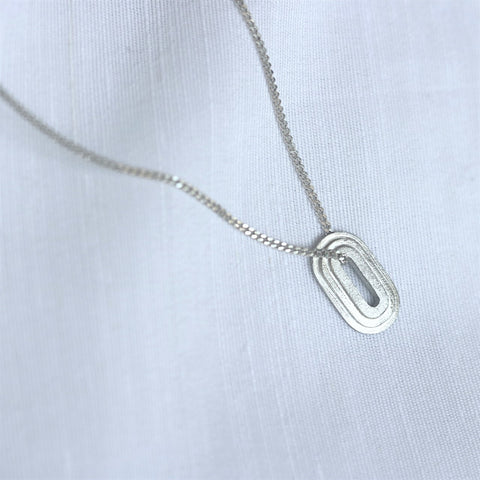 Oval step Chain & Pendant