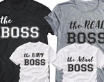 "Family T-Shirts Sets - ""The Actual Boss"""