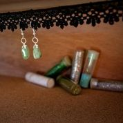 Aventurine: Semi Precious Polished Earrings