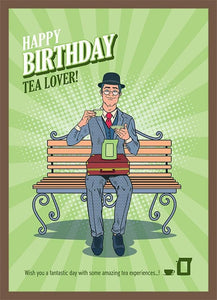 Tea Card Happy Birthday #4. 2 Brewers (4-8 cups)