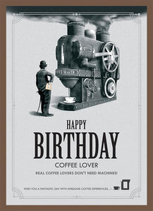 Coffee Card Birthday #3. 2 Brewers (4 cups)