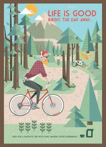Coffee Card bike #4. 2 Brewers (4 cups)