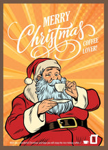 Load image into Gallery viewer, Merry Christmas Coffee Lover Santa