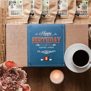 Happy Birthday  Fairtrade kaffegaveæske, 10 stk. (20 kopper)