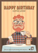Load image into Gallery viewer, Coffee Card Birthday #6. 2 Brewers (4 cups)