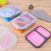 Compartment Foldable Silicon Lunch box
