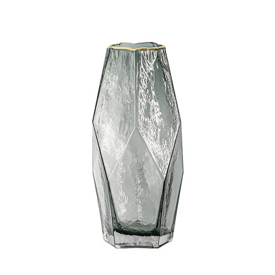 Home Decoration Modern Art Flower Vase & Geometric Glass Flower Vase