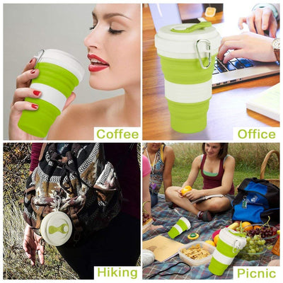 Foldable Silicone Water Bottle 550ml